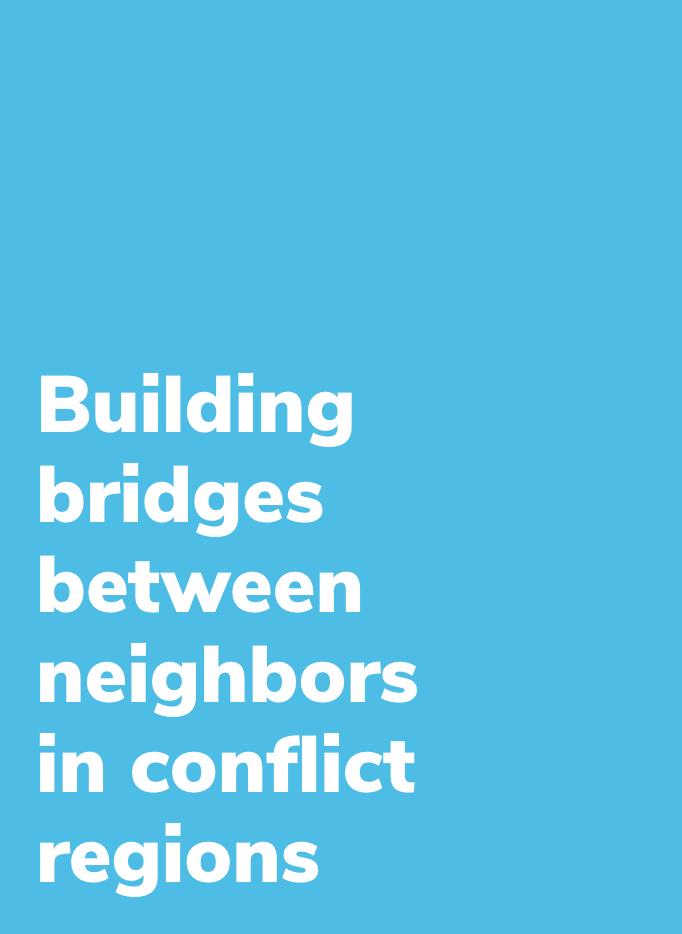 Building bridges between neighbors in conflict regions