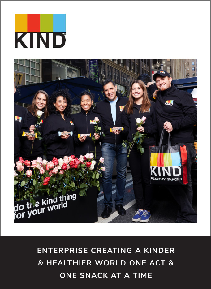 KIND – Enterprise creating a kinder & healthier world one act & one snack at a time